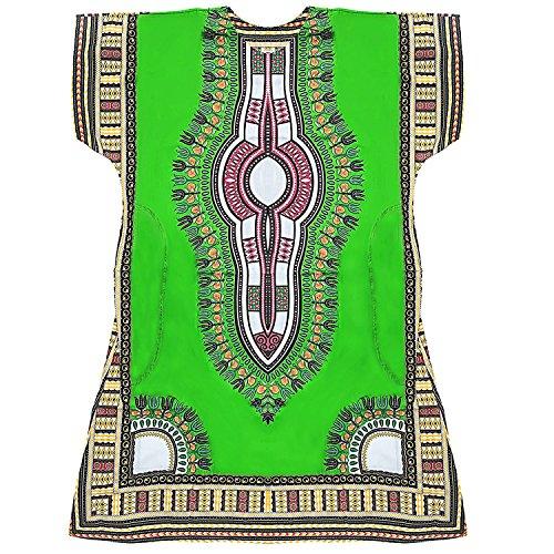 Traditionelle Dashiki (Homes & Deco Kleidung Dashiki afrikanischen Traditionelle Mexikanische Shirt Kaftan für Herren Ladies Light Green)