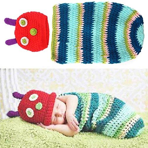 �r Neugeborene, für Fotoaufnahmen, Geschenk-Set, Caterpillar (Caterpillar-kostüme)