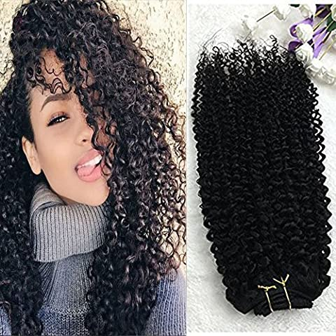 Cheveux Naturel - Full Shine 25cm Kinky Curly Extensions Cheveux