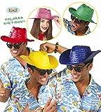 Cappello di paglia in colori assorititi modello panama paglietta