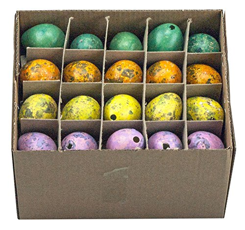 Wachteleier Farbmix ausgeblasen 60 Stück Ostereier Eier Osterdeko Osternest Dekoeier Osterdekoration