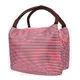 Sacco per il Pranzo Pranzo Al Sacco Isolato Dispositivo di Raffreddamento Portatile da Asporto Tote Bag di Uomini, Donne, Esterna, Picnic (Rosso)