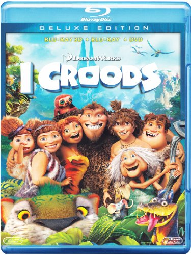 i croods 3d - deluxe edition (blu-ray 3d + blu-ray disc + dvd) [Italia] [Blu-ray]