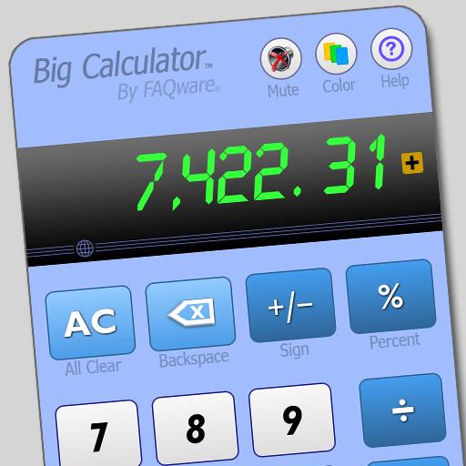 Big Calculator (Ad Free) Audio-vision Plus