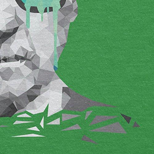 NERDO - Poly Psychedelic Albert - Herren T-Shirt Grün