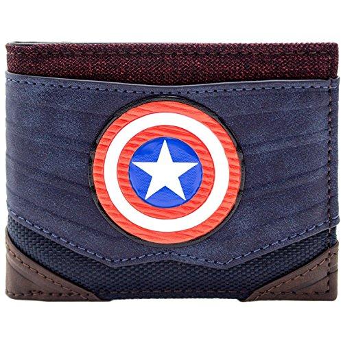 Marvel Captain America Strukturierte Anzugsart Blau Portemonnaie ()
