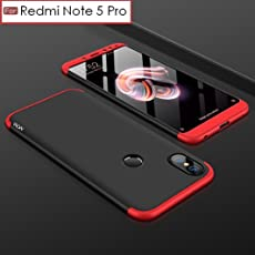 Redmi Note 5 Pro Original Goelectro 3 In 1 Double Dip Case All Angle Protection Matte Hard Back Case Cover For Xiaomi Mi Redmi Note 5 Pro - Black With Red