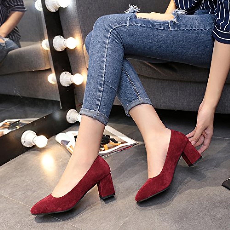 e329d9ec9717e0 yalanshop Bold and WoHommes Shoes Fashion, Fashion, Fashion, Retro Single  Shoes Female Wild Light of Satin, Red,37B07F2L6G5FParent | L'apparence  élégante ...