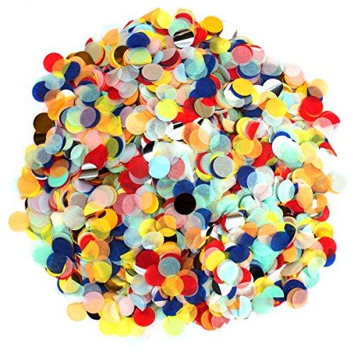 ANPHSIN 25000 Stück Papier Konfetti, 1 Zoll Tissue Konfetti, Bunt Seidenpapier Tabellen Konfetti für Geburtstagsfeier, Hochzeit, Jubiläen, Baby-Duschen usw.