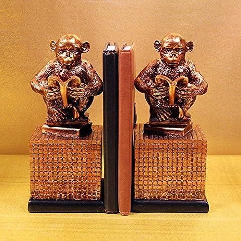 Du lijun 2016 Sujetalibros casa estudio artes de la resina de monos creativos de estilo clásico resina artesanal , 24*11*19