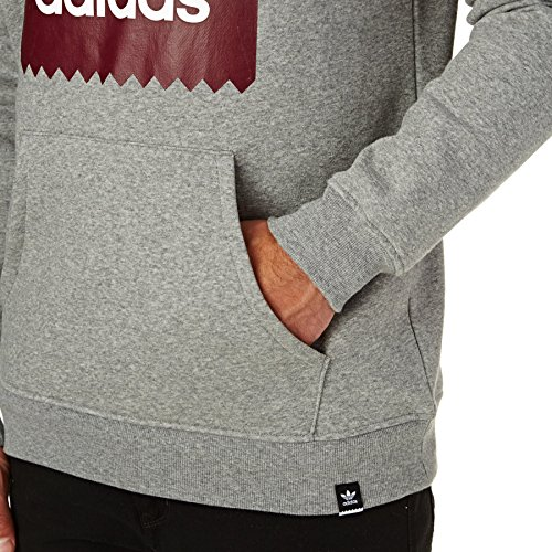 Adidas Solid Bb Hood, Herren Sweatshirt Grigio (Brebas/Buruni)