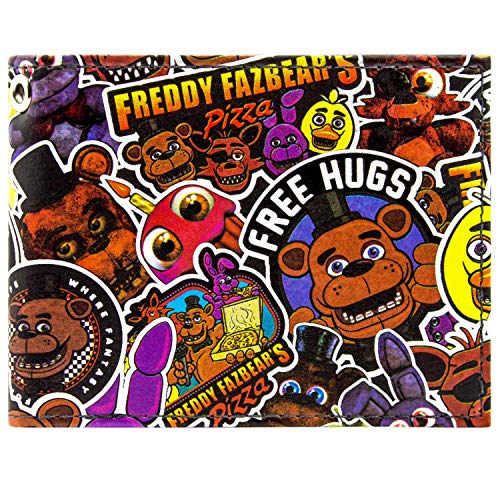 Freddy Fazbear Fazbear Pizza Black ID & Card Bi-Fold Wallet