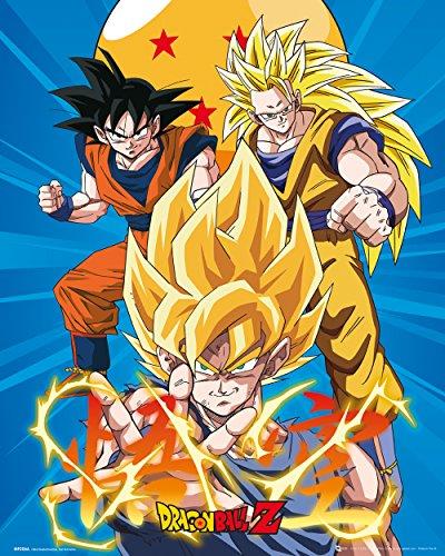 Mini Poster Dragon Ball Z 3 Gokus
