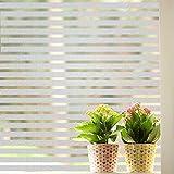 Zindoo Streifen Blickdicht Fensterfolie