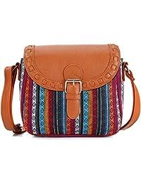Boho Handtasche Hippie Ethno Tribal Retro Muster verschiedene Designs Schultertasche Messenger Bag