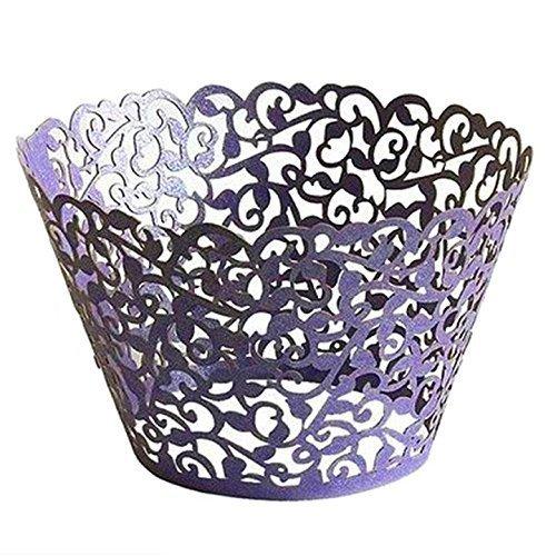 rappers, Hochzeit Cupcake Wrapper Backen Kuchen Cups Packungen Party Dekoration Cupcake Fällen Cupcake Halter Muffin cups-25PCS ()