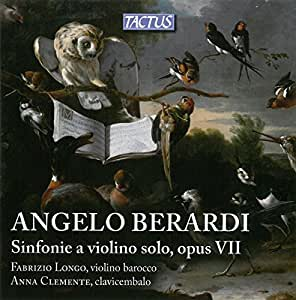 Berardi: Sinfonie for Violin Book I Opus 7