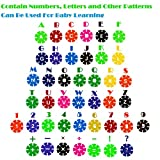 EMIDO Building Toy 500 Piece Interlocking Plastic Disc Set Snowflakes Connect - Foster childrens creativity, imagination, color recognition and teamwork!