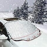 iZoeL Windschutzscheibenabdeckung Autoscheibenabdeckung Auto Frontscheibe Abdeckung Frostschutz Schneeschutz Winter Magnetisch with 3 Magnets Universal