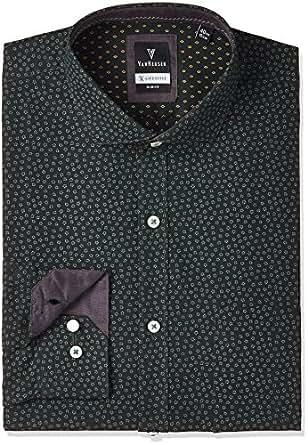 Van Heusen Men's Formal Shirt (VHSF516M08610_Green_39)