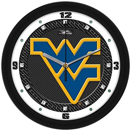 NCAA Unisex Wanduhr, unisex - erwachsene Unisex Kinder herren, South Dakota State Jackrabbits - Carbon Fiber Textured Wall Clock, Carbon Fiber, Einheitsgröße