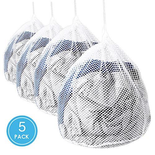 ASANMU - 5 bolsas lavandería tope cordón, bolsas