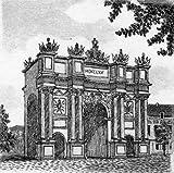Einfarbige original Radierung Potsdam, Brandenburger Tor von König als loses Blatt, Graphik, kein Kunstdruck, kein Leinwandbild