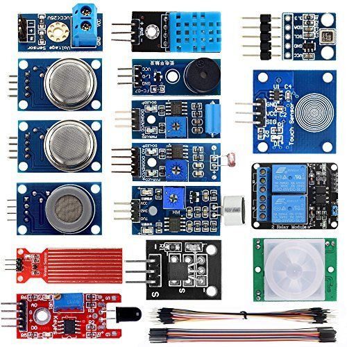 KOOKYE 16 in 1 Smart Home Sensor Modul Kit für Arduino Raspberry Pi Selbstbau Professional (Smart Home Kit -