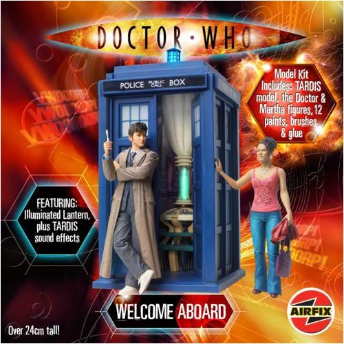 Airfix A50006 1:12 Scale Doctor Who Welcome Aboard Gift Set