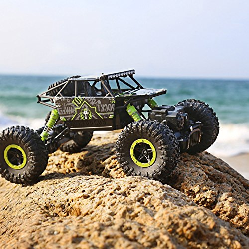 RC Auto kaufen Crawler Bild 5: H&B HB HB-P1803 Rock Crawler,CrossRace Ferngesteuertes, 1:18 RC Auto,4WD Monster Truck/Off Road Fahrzeug(Grün), Grün1*