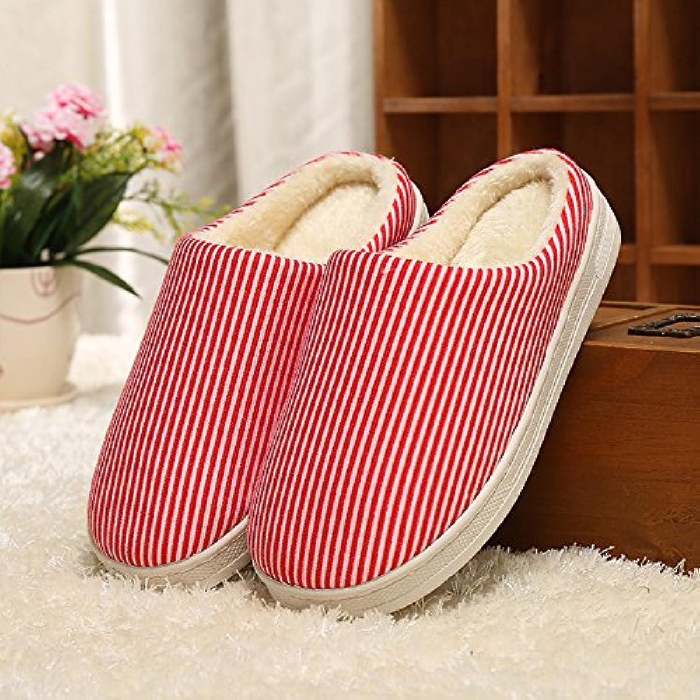 Y-Hui Home caldo cotone pantofole, gli amanti di inverno caldo Coloreeee solido, fondo spesso Home pantofole di cotone...   Forte calore e resistenza al calore    Scolaro/Signora Scarpa