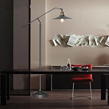 American Style Industrial Rustikale Eisen Verstellbare Stehlampe Wohnzimmer  Schlafzimmer Büro Studio Villa Hotel Gallery Leselampe , Black: Amazon.de:  Küche ...