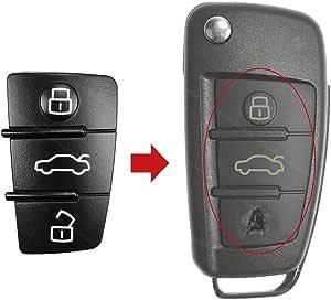 Konikon Tastenfeld 3 Tasten Auto Schlüssel Ersatztaste Gummi Pad 2 Stück Neu Passend Für Audi A3