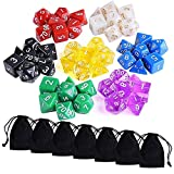 Austor 7 x 7 (49 Pieces) Polyhedral Dice 7 Colors Dungeons for sale  Delivered anywhere in Ireland