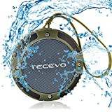 TECEVO S15 Mini Portable Outdoor Bluetooth Speaker With Microphone , IPX4 Waterproof , Shockproof , Dustproof , Rechargeable Battery , Wireless Portable Bluetooth Speaker for Travel, Work, Hiking, Beach / Marine Wireless Speaker / Rugged Bluetooth Speaker with Built-in Mic and Handsfree Speakerphone for Apple iPhone 6 Plus / 6 / 5S / 5C / 5 / 4S / 4, Smartphones & Tablets (Green)