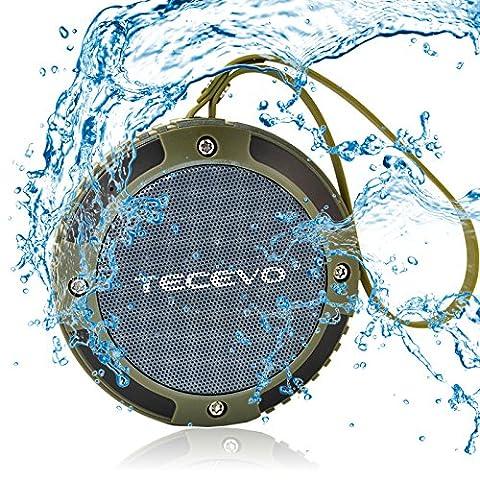 TECEVO S15 Bluetooth Lautsprecher mit Mikrofon, tragbar, wasserdicht, stoßfest, staubdicht,