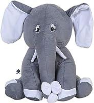 Deals India Elephant Soft Toy- 22 cm, Grey