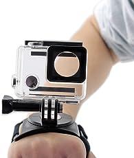 Brain Freezer J 360 Degree Rotation Swivel Wrist Strap Armband Mount for Gopro Hero 1 2 3 3+ 4 Sports Camera (Black)