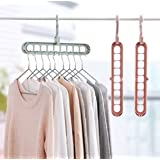 TONY STARK Wardrobe Space Saver Folding Hangers,Hangers for Clothes Wardrobe,1 Pack Anti-Skid Plastic Magic Clothes…
