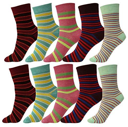 Kid es Mitte der Wade Länge Baumwolle Spandex Mehrfarbig Socken Größe - 5/2-4 Jahre (Mitte Länge Socken Kalb)