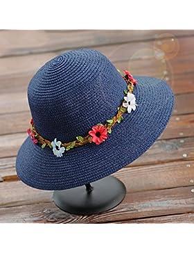 Femminile il tempo libero estivo cappello di paglia pieghevole mare Vacanza cappello da sole crema solare ( Colore...