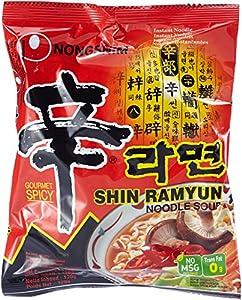 Nong Shim Instantnudeln Shin Ramyun - Koreanische Ramen Suppe scharf -...