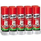 Pritt Colla Stick 10 x 43g, colla per bambini sicura e affidabile, colla Pritt per lavoretti e fai da te, con una tenuta fort