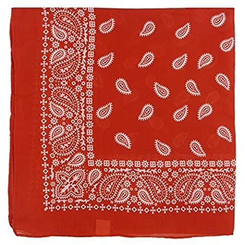 Large Paisley Bandana Bikers Head SCARF in 3 Colours Soft Lightweight 25