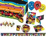 Amscan 9050 0315 Party Set Geschirr Smiley
