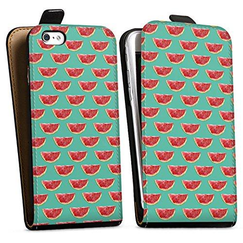 Apple iPhone X Silikon Hülle Case Schutzhülle Wassermelone Muster Sommer Downflip Tasche schwarz
