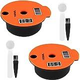 Baoblaze Filtre à Dosette de de Café PP Réutilisable Rechargeable de 2 Pièces pour Bosch Tassimo 180 Ml