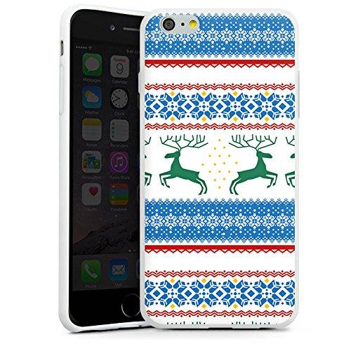 Apple iPhone X Silikon Hülle Case Schutzhülle Norwegen Muster Rentiere Silikon Case weiß