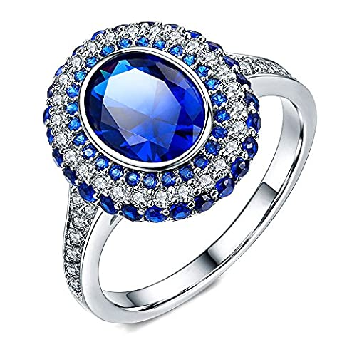 Hongkang Modisches Kupfermaterial Luxus Saphir Ring (19mm)