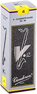 Vandoren CR624 V12 Bass Clarinet Reeds (Strength 4) (Pack of 5)